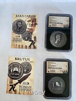Roman Series, 7k Ms 70, Les 2 Premières Pièces De 12, César Et Brutus