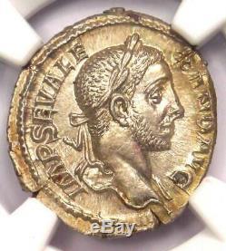 Roman Severus Alexander Ar Denarius Coin 230 Ad Ngc Choix Ms Condition (unc)