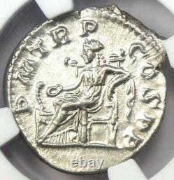 Roman Severus Alexander Ar Denarius Pièce 222-235 Ad Certifié Ngc Choice Au