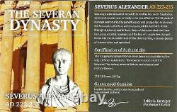 Roman Silver Denarius De Severus Alexander Coin Ngc Certifié Ua With Story