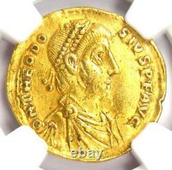 Roman Theodosius I Av Solidus Gold Coin 379-395 Ad Ngc Choice Xf (ef)