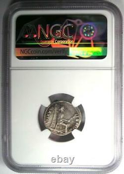 Roman Tibère Ar Denarius Argent Hommage Penny Coin 14-37 Ad Ngc Choice Vf