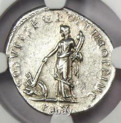 Roman Trajan Ar Denarius Silver Coin 98-117 Ad Certifié Ngc Choice Xf (ef)