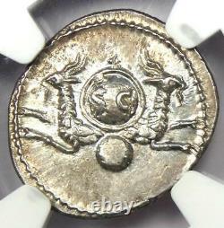 Roman Vespasian Ar Denarius Silver Coin 69-79 Ad Ngc Choix Au 5 Strike