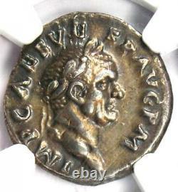 Roman Vespasien Ar Denarius Silver Coin 69-79 Ad. Certifié Ngc Choice Xf (ef)