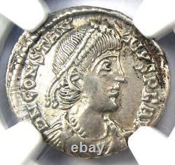 Rome Antique Ar Constantius II Siliqua Rome Pièce De Monnaie 337-361 Ad Ngc Xf Choix