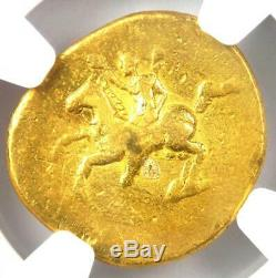 Rome Antique Domitien Or Av Aureus Coin 81-96 Certifié Ngc Fin