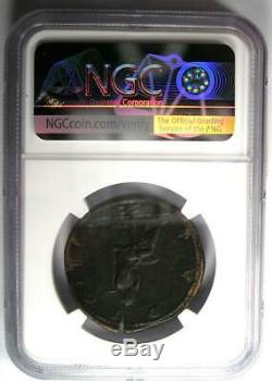 Sabina Ancienne Romaine Ae Sestertius Coin 128-136 Ad. Certifié Ngc Xf, Fine Style