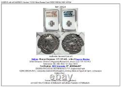 Sabina Épouse De Hadrian Ancient 131ad Silver Roman Coin Concordia Ngc I80526