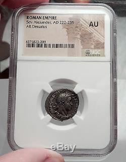 Severus Alexander 227ad Rome Antique Mars Argent Roman Denarius Numismatique, Ngc I59825