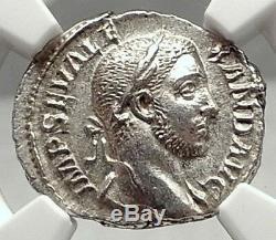 Severus Alexander Authentique Antique Argent 229ad Rome Romaine Monnaie Ngc Ms I72936