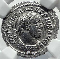 Severus Alexander Authentique Rome Antique Argent Monnaie Romaine Spes Espoir Ngc I82228