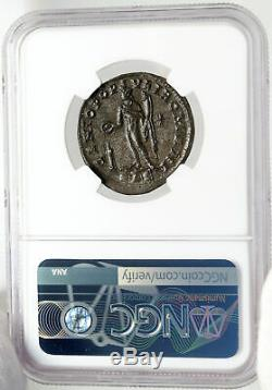 Severus II César Authentique Ancien 305ad Monnaie Romaine Genius Ngc Ms I83548