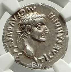 Tibérius 36ad Argent Biblique Pièce De Monnaie Romaine Jésus Christ Rendu Caesar Ngc I76850