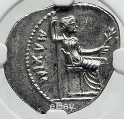 Tiberius 36ad Argent Biblique Romaine Coin Jésus-christ Rendre Caesar Ngc I82350