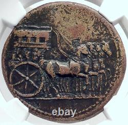 Tiberius Authentic Ancient 36ad Rome Sestertius Roman Coin Quadriga Ngc I81780