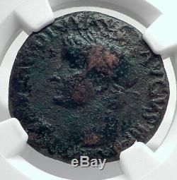 Tiberius Authentique Ancien 35ad Véritable Originale Rome Roman Coin Ngc I80911