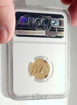 Tiberius Authentique Monnaie Romaine Antique De 15ad Gold Livia Ngc Certifiée Vf I71693