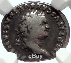 Titus 79ad Guerre Romaine Juive Judaea Capta Captive Ancienne Pièce D'argent Ngc I68126