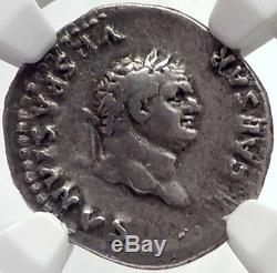 Titus Authentique Ancient Rome 77ad Argent Monnaie Romaine Avec Sow Porcelets Ngc I68925