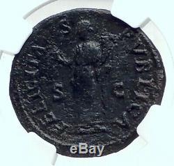 Titus César Vespasien 76ad Rome Antique Dupondius Romaine Monnaie Ngc I77646