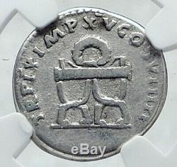 Titus Véritable Ancien 80ad Argent Monnaie Romaine Pour Mt Pompei Ngc I81411 Vésuve