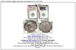 Trajan 105ad Rome Authentique Véritable Ancien Romain Silver Coin Victoire Ngc I72903