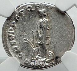 Trajan Authentique Ancien 110ad Argent Monnaie Romaine Dacia Capta Captive Ngc I81797