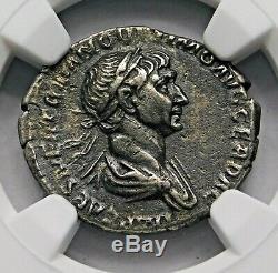 Trajan. Remarquable Denier Circa 103-111 Ad. Ancien Romain Silver Coin