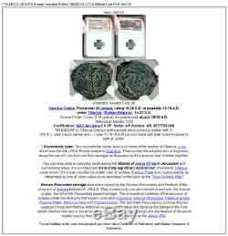 Valerius Grat Romain Jérusalem Préfet Tiberius Livia Biblique Ngc Coin I68138