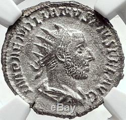Véritable Aemilian 253ad Rome Authentique Ancienne Pièce De Monnaie Romaine Argent Spes Ngc I68710