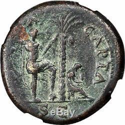 Vespasian 71ad Rome Sestertius Judaea Capta Pièce De Monnaie Romaine Antique Ngc Certified