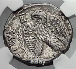 Vespasien 69ad Argent Antique Romaine Tetradrachm Monnaie Antioche Aigle Ngc I60112