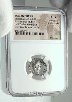 Vespasien 69ad Rome Antique Authentique Judaea Capta Argent Romaine Monnaie Ngc I79640