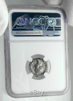 Vespasien 69ad Rome Antique Authentique Judaea Capta Argent Romaine Monnaie Ngc I80693