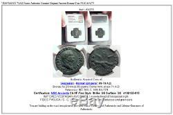 Vespasien 71ad Rome Authentique Véritable Originale Ancienne Pièce De Monnaie Romaine Ngc I64275