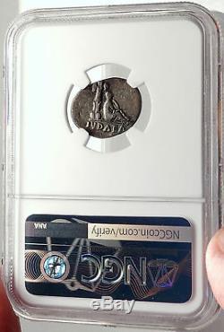 Vespasien Guerre Des Juifs Victoire Judaea Capta Argent Antique Romaine Monnaie Ngc I69315