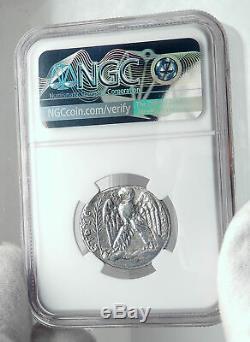 Vespasien Originale Antique Antioche 69ad Tétradrachme D'argent Romaine Monnaie Ngc I81699