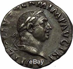Vitellius 69ad Ngc Certifié Ch. Xf Authentique Pièce De Monnaie Antique En Argent - Corbeau