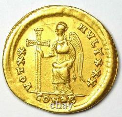 Western Roman Honorius Av Solidus Gold Coin 393-423 Ad Certifié Ngc Choice Vf