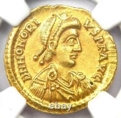 Western Roman Honorius Av Solidus Gold Coin 393-423 Ad Certifié Ngc Xf Rare