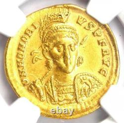 Western Roman Honorius Av Solidus Gold Coin 393-423 Ad Certifié Ngc Xf (ef)