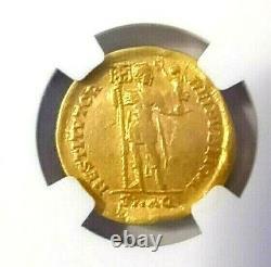 Western Roman, Valentinian I Av Solidus Gold Coin 364-375 Ad Ngc Certifié
